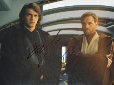 Hayden Christensen and Ewan McGregor Signed - Autographed STAR WARS 8x10 inch Photo - Guaranteed to pass PSA or JSA - Anakin Skywalker and Obi-Wan Kenobi