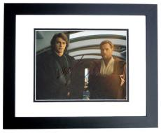 Hayden Christensen and Ewan McGregor Signed - Autographed STAR WARS 8x10 inch Photo BLACK CUSTOM FRAME - Guaranteed to pass PSA or JSA - Anakin Skywalker and Obi-Wan Kenobi