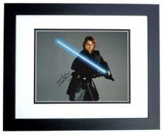 Hayden Christensen Autographed STAR WARS 11x14 Photo BLACK CUSTOM FRAME