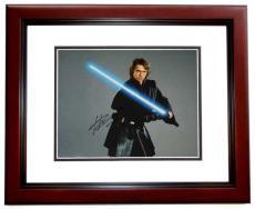 Hayden Christensen Autographed STAR WARS 11x14 Photo MAHOGANY CUSTOM FRAME
