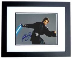 Hayden Christensen Autographed STAR WARS 8x10 Photo BLACK CUSTOM FRAME