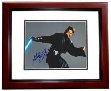 Hayden Christensen Autographed STAR WARS 8x10 Photo MAHOGANY CUSTOM FRAME