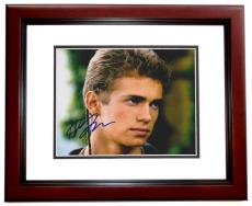 Hayden Christensen Autographed STAR WARS 8x10 Photo MAHOGANY CUSTOM FRAME - Actor from Revenge of the Sith and Attack of the Clones