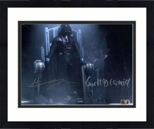 """Hayden Christensen & Ian McDiarmid Star Wars Revenge of the Sith Autographed 8"""" x 10"""" Darth Vader & Darth Sidious Photograph - Topps Authentic"""