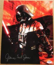 Hayden Christensen James Earl Jones signed Darth Vader 11x14 photo PSA/DNA