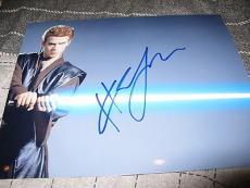 HAYDEN CHRISTENSEN SIGNED AUTOGRAPH 8x10 PHOTO STAR WARS LIGHT SABER PROMO COA G