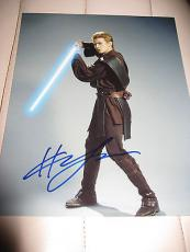HAYDEN CHRISTENSEN SIGNED AUTOGRAPH 8x10 PHOTO STAR WARS LIGHT SABER PROMO COA K