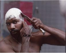 Dennis Haysbert Autographed 8'' x 10'' Shaving Photograph