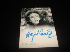Hazel Court Raven Signed 2000 Rittenhouse Twilight Zone Certified Autograph A14