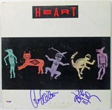 Heart (2) Ann & Nancy Wilson Signed Album Cover W/ Vinyl PSA/DNA #W79164