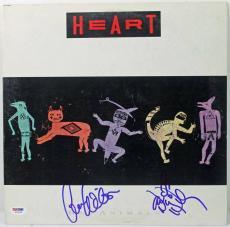 Heart (2) Ann & Nancy Wilson Signed Album Cover W/ Vinyl PSA/DNA #W79164