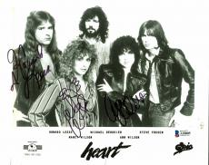Heart (3)  Nancy Wilson, Ann Wilson & Leese Signed 8x10 Photo  BAS #A10805