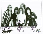 Heart (3)  Nancy Wilson, Ann Wilson & Leese Signed 8x10 Photo  BAS #A10806