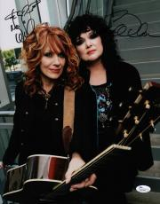 Heart Ann & Nancy Wilson Signed 11x14 Photo Jsa Coa N37849