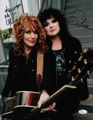 Heart Ann & Nancy Wilson Signed 11x14 Photo Jsa Coa N37850