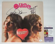 Heart Ann & Nancy Wilson Signed Dreamboat Annie Record Album Jsa Coa N26941