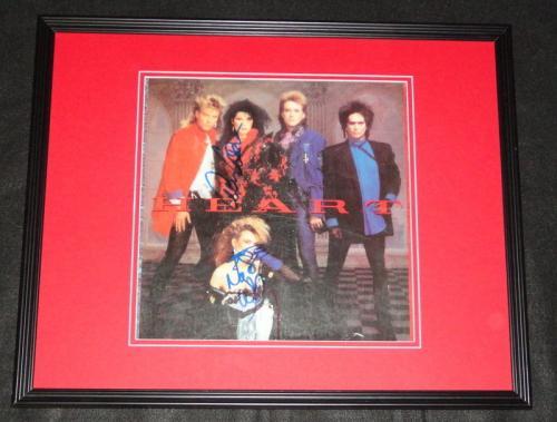 Heart Ann Wilson & Nancy Wilson Dual Signed Framed 1985 Record Album Display B