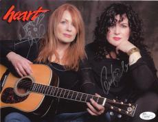 HEART AUTOGRAPHED 8x10 COLOR PHOTO       SIGNED BY ANN+NANCY WILSON    JSA
