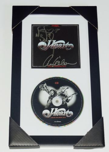 Heart Autographed Live Cd (framed & Matted) - Ann & Nancy Wilson - W/ Proof!