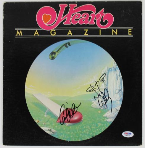 "Heart Nancy & Ann Wilson Signed ""magazine"" Album Cover Psa/dna #y45873"