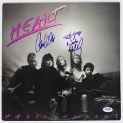 "Heart Nancy & Ann Wilson Signed ""passion Works"" Album Cover Psa/dna #y45877"