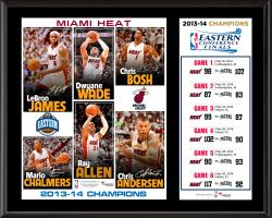 "Miami Heat NBA 2014 Eastern Conference Champions Sublimated 12"" x 15"" Plaque"