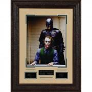 "Heath Ledger and Christian Bale The Dark Knight Framed 16"" x 20"" Photograph with Laser Engraved Signature"