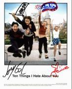 Heath Ledger, Julia Stiles, Gordon-Levitt & Oleynik Signed 8x10 Photo PSA/DNA