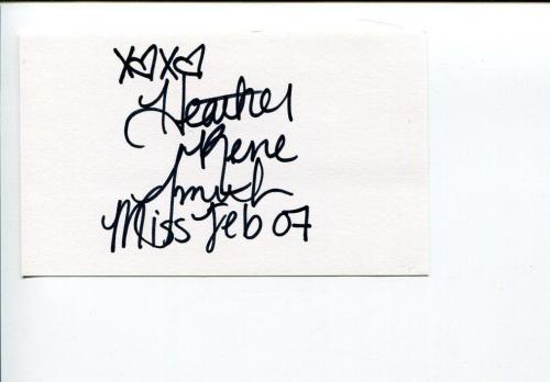 Heather Rene Smith Playboy Playmate Signed Autograph