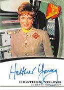 Heather Young signed trading card Land of the Giants Betty Hamilton Irwin Allen 2003 #A2 Certified Insert 67