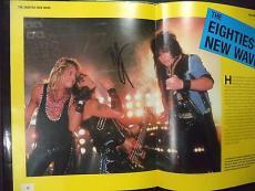 Heavy Metal Book Signed By Vince Neil Alice Cooper Jason Bonham Sebastian Bach