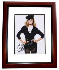 Heidi Klum Autographed Model 8x10 Photo MAHOGANY CUSTOM FRAME