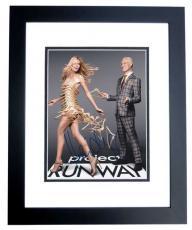 Heidi Klum Autographed Project Runway Model 8x10 Photo BLACK CUSTOM FRAME