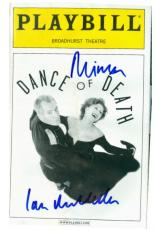 Helen Mirren and Ian Mckellen autographed Dance of Death Broadway Playbill Water Damaged Discount
