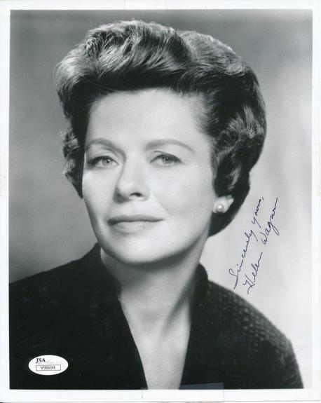 Helen Wagner As the World Turns Autographed 8x10 Photo JSA 138168