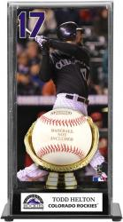 Todd Helton Colorado Rockies Baseball Display Case with Gold Glove & Plate