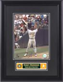 Signed Rickey Henderson Photograph - FRAMED SB KING 8x10