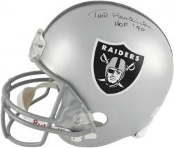 "Ted Hendricks Oakland Raiders Autographed Riddell Replica Helmet with ""HOF 90"" Inscription - Mounted Memories"