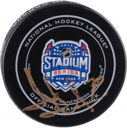 Henrik Lundqvist New York Rangers Autographed Rangers vs. Islanders 2014 Stadium Series Official Game Puck