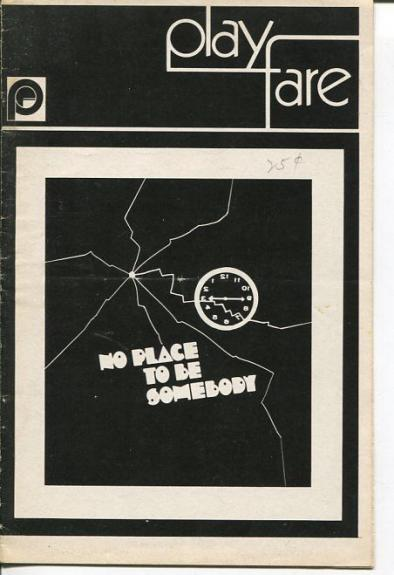 Henry Baker Marge Eliot Charles Gordone No Place To Be Somebody 1970 Playbill