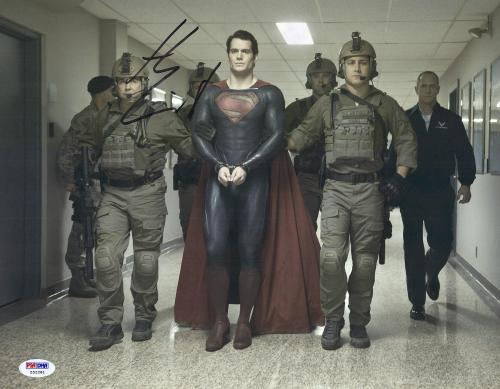 "Henry Cavill Autographed 11"" x 14"" Superman Man of Steel Handcuff Photograph - PSA/DNA COA"