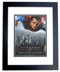Henry Cavill Autographed SUPERMAN 11x17 inch Mini Movie Poster BLACK CUSTOM FRAME