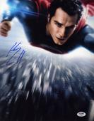 Henry Cavill SIGNED 11x14 Photo Superman Clark Man of Steel PSA/DNA AUTOGRAPHED
