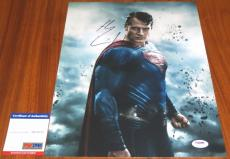 Henry Cavill Signed 11x14 Superman Clark Kent Dawn of Justice PSA/DNA