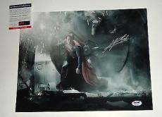 Henry Cavill signed *SUPERMAN* MAN OF STEEL Clark Kent 11X14 photo PSA/DNA #1