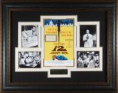 12 ANGRY MEN Henry Fonday Signed Poster Framed Display