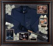 "Henry Hill Framed Autographed 41"" x 47"" x 4"" Shadowbox with Multiple Inscriptions - JSA"