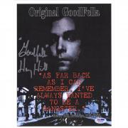 "Henry Hill GoodFellas Autographed 9"" x 11"" Original GoodFella Movie Poster with Goodfella Inscription - BAS"