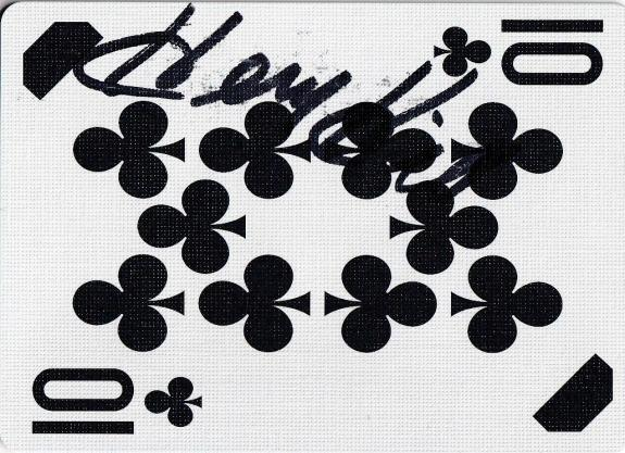 Henry Hill Signed Goodfellas Playing Card 10 Ten of Clubs PSA/DNA COA Gangster