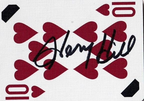 Henry Hill Signed Goodfellas Playing Card 10 Ten of Hearts PSA/DNA COA Gangster